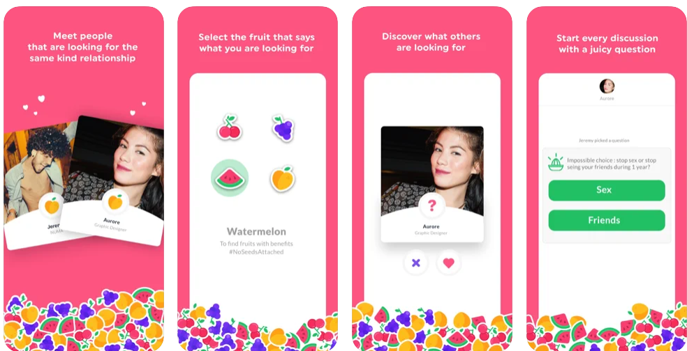 Fruitz, l'application rencontre pour des rencontres coquines